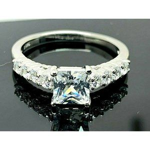 Engagement Ring Brilliance Sterling Silver SZ 9